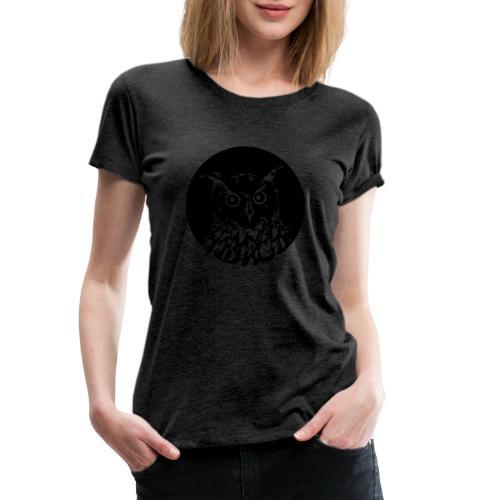 eule rund - Frauen Premium T-Shirt