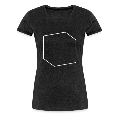 goCreative Cube white - Women's Premium T-Shirt