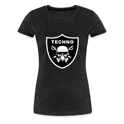 skull gasmask-01 - Frauen Premium T-Shirt