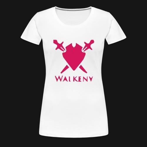 Das Walkeny Logo mit dem Schwert in PINK! - Frauen Premium T-Shirt