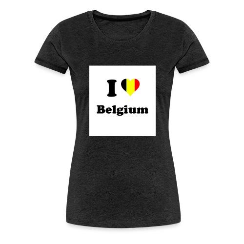 i love belgium - Vrouwen Premium T-shirt