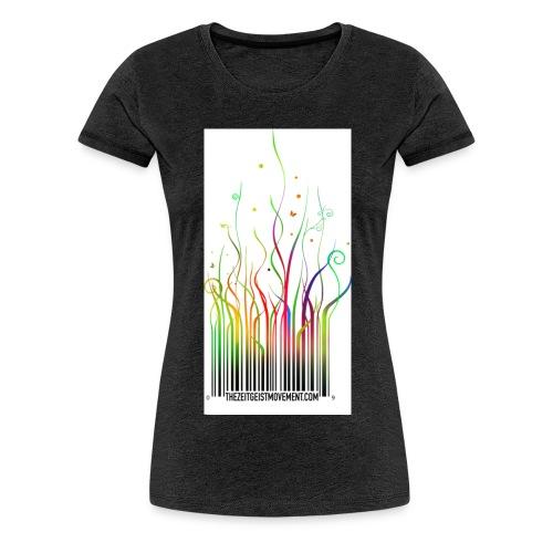 barcode rainbow en - Maglietta Premium da donna