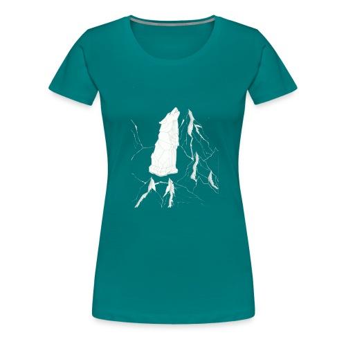 howling geometric wolf - Frauen Premium T-Shirt