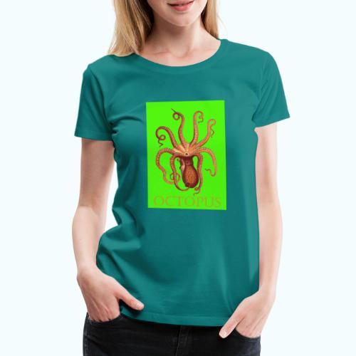 Kraken Pop Art Drawing - Women's Premium T-Shirt