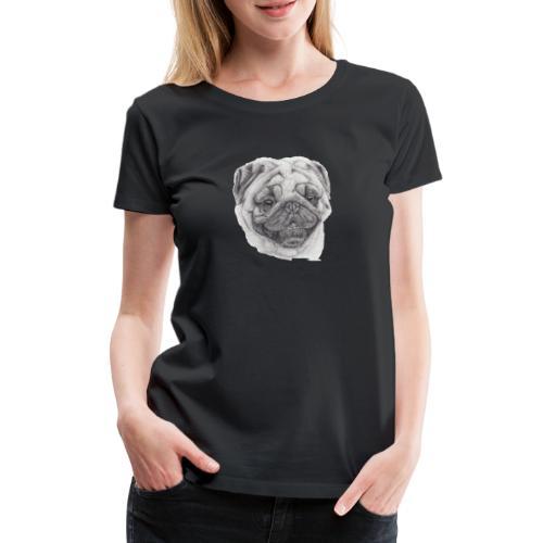 Pug mops 2 - Dame premium T-shirt