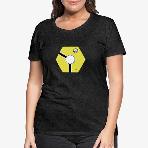 Tile Yellow - Premium-T-shirt dam