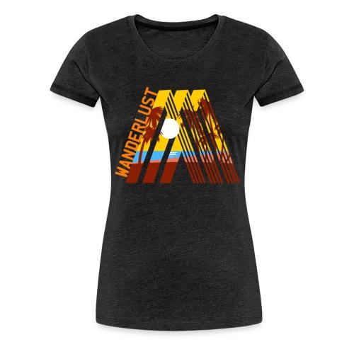 Reisen Weltreise Travelshirt Strand Sonne Palmen - Frauen Premium T-Shirt