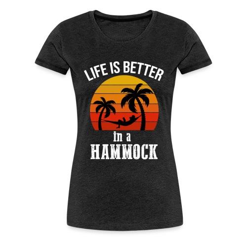 Reisen Weltreise Travelshirt Hängematte - Frauen Premium T-Shirt