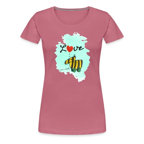 Janosch Tigerente Love Türkis SP - Frauen Premium T-Shirt