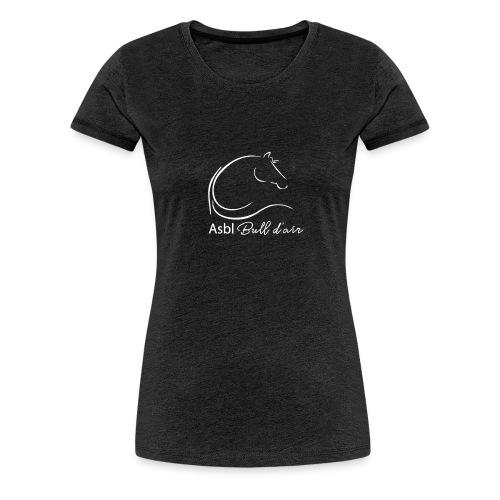 logo bull d air blanc - T-shirt Premium Femme