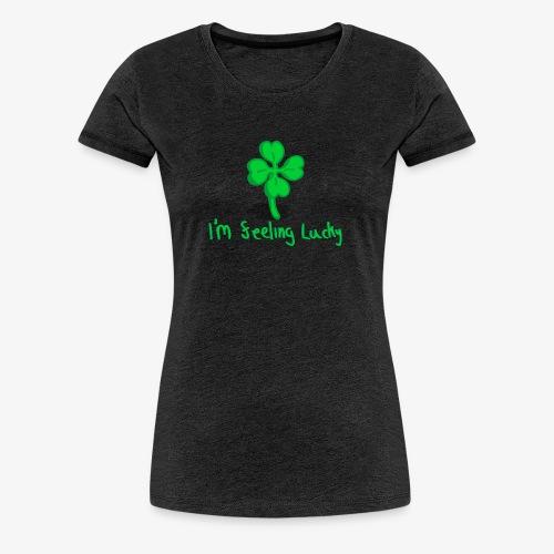 Lucky Four Leaf Clover - Women's Premium T-Shirt
