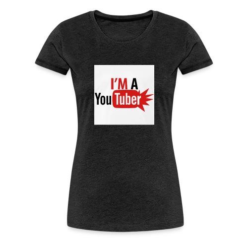 im a youtuber t shirts men s premium t shirt - Vrouwen Premium T-shirt
