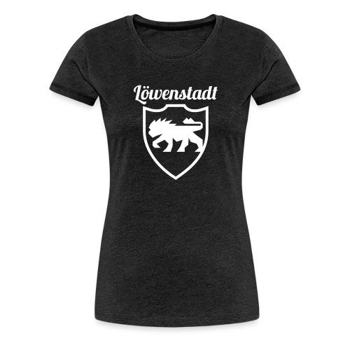 Löwenstadt Design 2 weiss - Frauen Premium T-Shirt