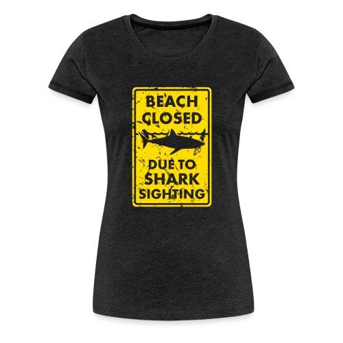 Surf T-Shirt Beach closed - Frauen Premium T-Shirt