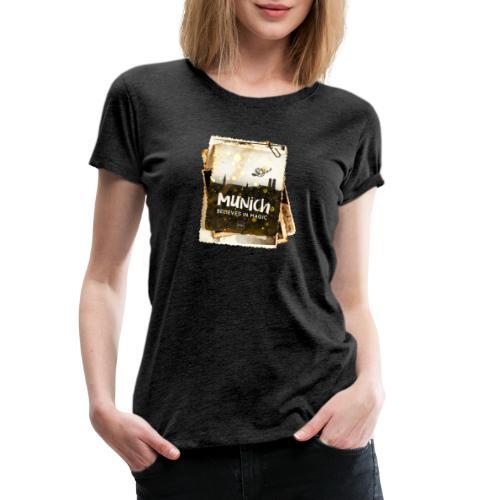 Munich believes frame - Frauen Premium T-Shirt
