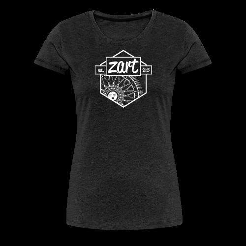 z.art Logo | white - Frauen Premium T-Shirt