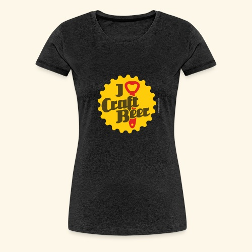 Craft Beer T-Shirt Design I Love Craft Beer - Frauen Premium T-Shirt