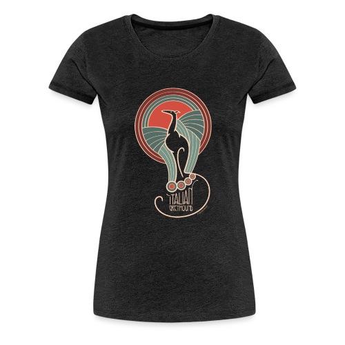 italian greyhound jugendstil 8 - Vrouwen Premium T-shirt