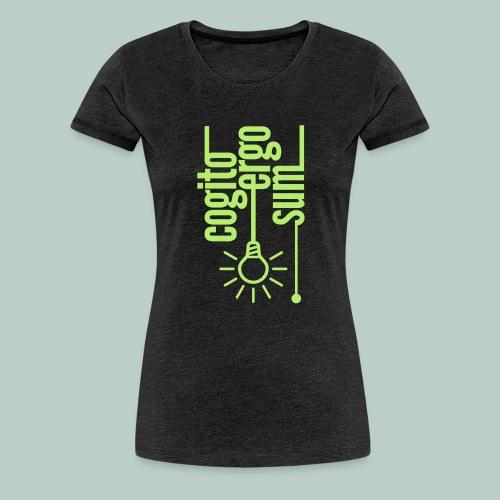cogito ergo sum glühbirne - Frauen Premium T-Shirt