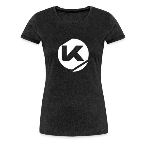 Logo K Blanc Vector - Women's Premium T-Shirt