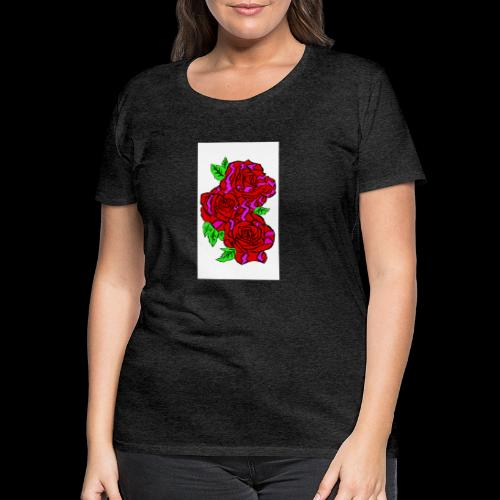 Roses with a kente design - Women's Premium T-Shirt
