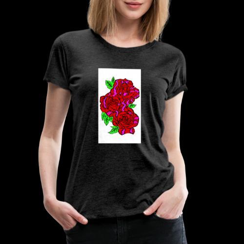 Roses with a kente design - Women's Premium T-Shirt