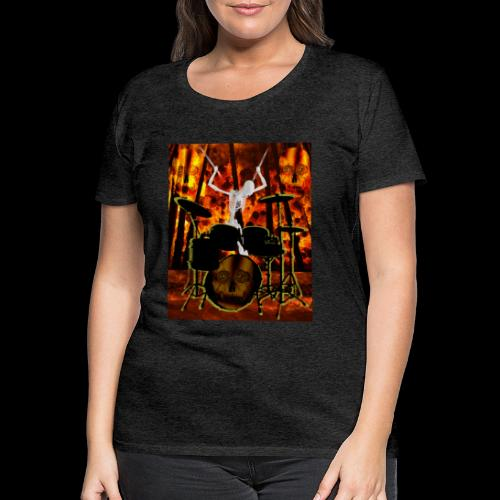 LE SQUELETTE BATTEUR - T-shirt Premium Femme