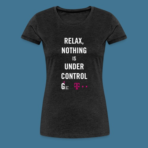 Relax weiss telekom - Frauen Premium T-Shirt