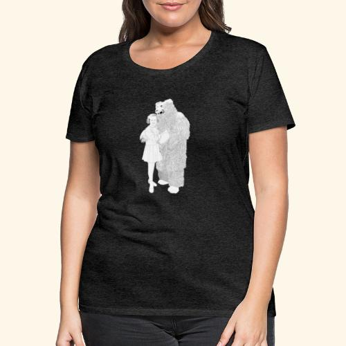 Girl with Bear - Frauen Premium T-Shirt