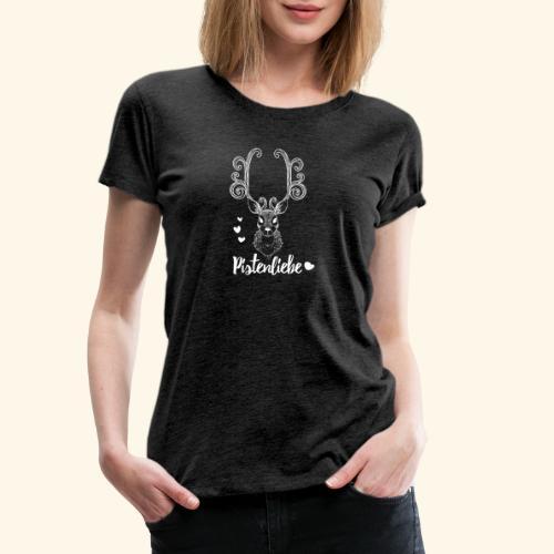pistenliebe weiß - Frauen Premium T-Shirt