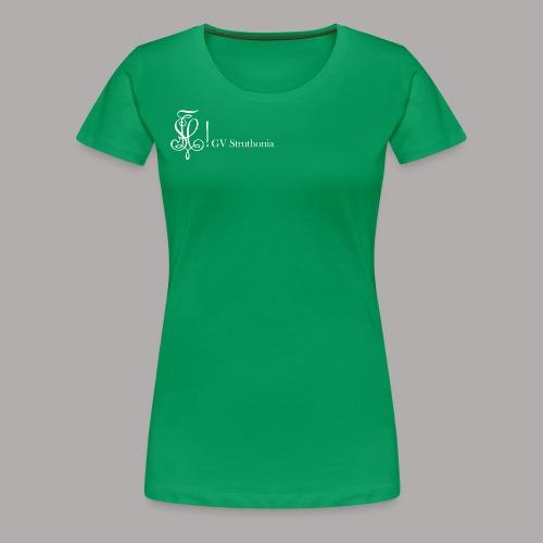 Zirkel mit Name, weiss (vorne) - Frauen Premium T-Shirt