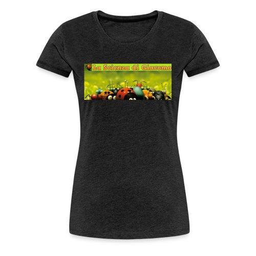 la scienza di giacomo logo maglietta PNG - Maglietta Premium da donna