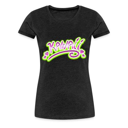 Kawaii Rose et Vert - T-shirt Premium Femme