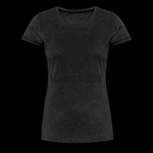 HAUKKA GYM LOGO - Naisten premium t-paita