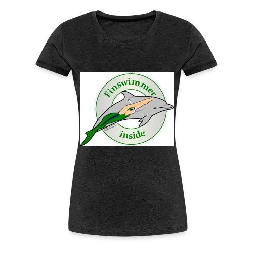 Logo Grün blau HA jpg - Frauen Premium T-Shirt