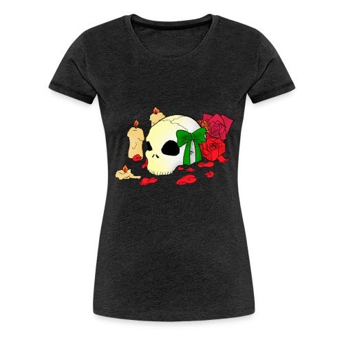 Skull and Roses - Frauen Premium T-Shirt