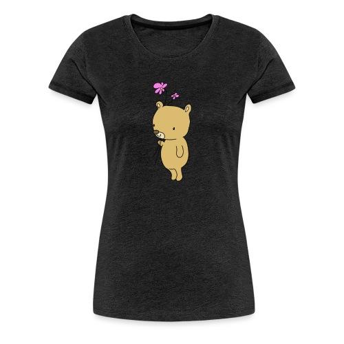 Baby Bär mit Blume - Frauen Premium T-Shirt