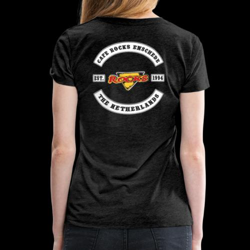Biker Colors Backpiece - Vrouwen Premium T-shirt