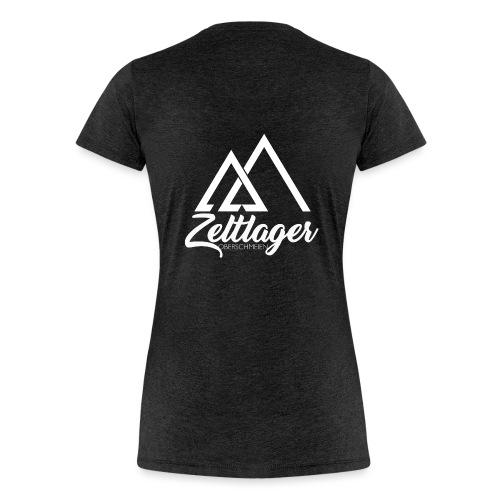 Zeltlager Logo hinten weiß Edition - Frauen Premium T-Shirt