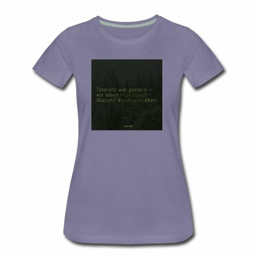 #weilbaum-T-Shirt Akzeptanz - Frauen Premium T-Shirt