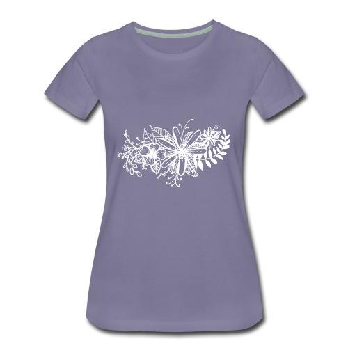 White Flower Artwork - Women's Premium T-Shirt