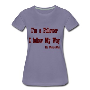 I follow My Way Brown - Koszulka damska Premium