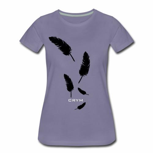 PLUME NOIRE CRYM - T-shirt Premium Femme