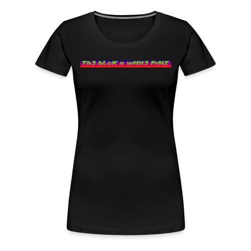 The Black and white Friends Logo - Frauen Premium T-Shirt