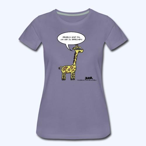 Giraffe - Achterbahn (600 - Frauen Premium T-Shirt