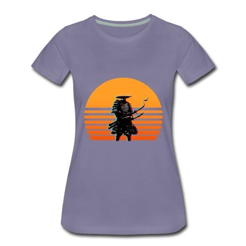 Samurai Sunset yellow - Frauen Premium T-Shirt