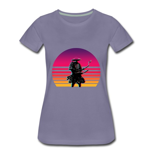 Samurai Untergang Outrun - Frauen Premium T-Shirt