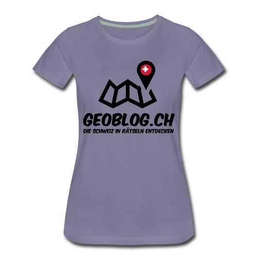 Logo+Schriftzug-hoch - Frauen Premium T-Shirt