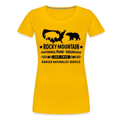 Rocky Mountain Nationalpark Berg Bison Grizzly Bär - Women's Premium T-Shirt