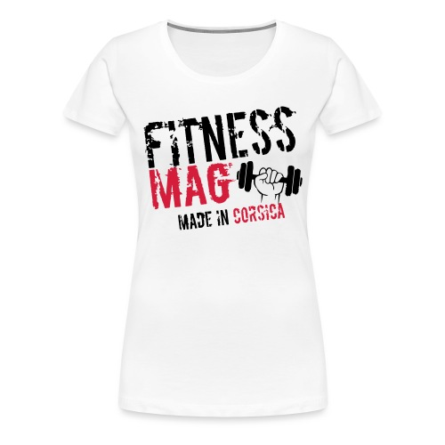 Fitness Mag made in corsica 100% Polyester - T-shirt Premium Femme